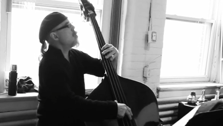 Michael Sharfe, laying a bass line.